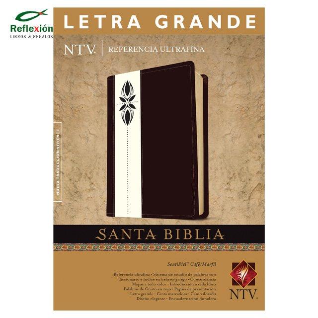 BIBLIA NTV LETRA GRANDE TAPA CAFÉ/MARFIL