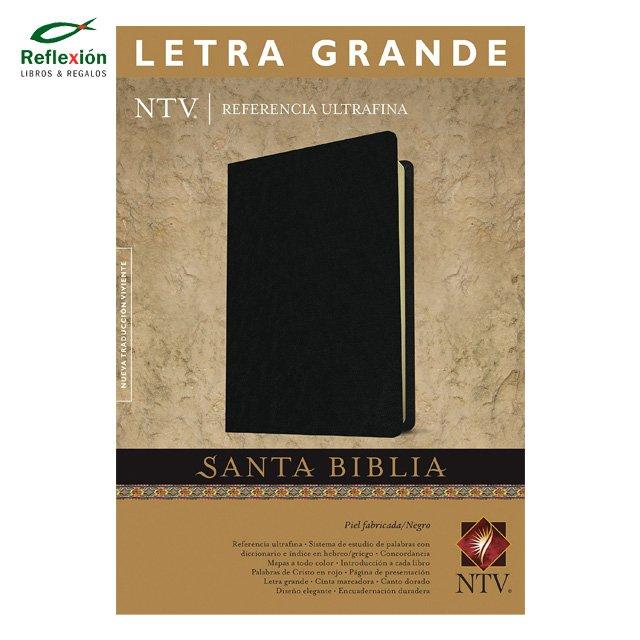 BIBLIA REFERENCIA ULTRA FINA PIEL NEGRA