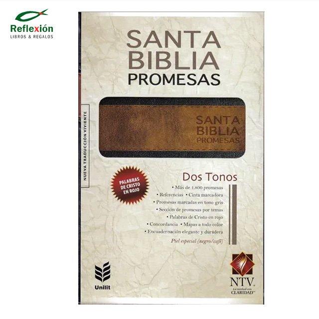 BIBLIA DE PROMESAS NTV PIEL NEGRO MARRON