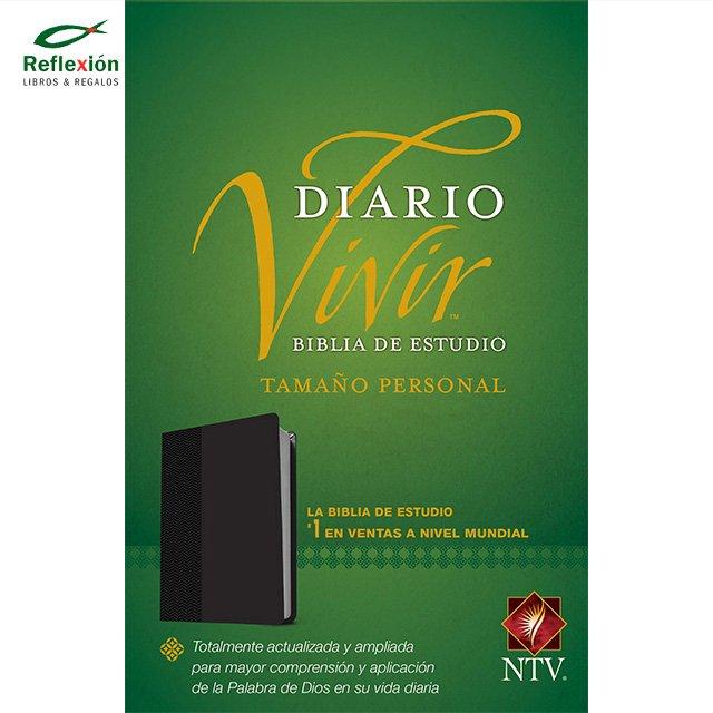 BIBLIA DIARIO VIVIR NTV PERSONAL NEGRO