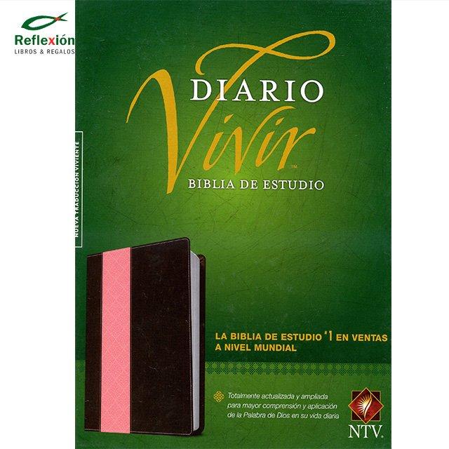 BIBLIA DIARIO VIVIR NTV PIEL CAFE/ROSA