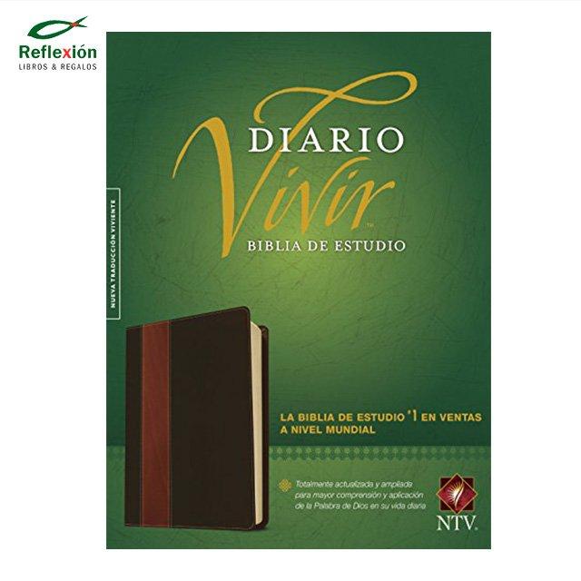 BIBLIA DIARIO VIVIR NTV PIEL CAFE CLARO
