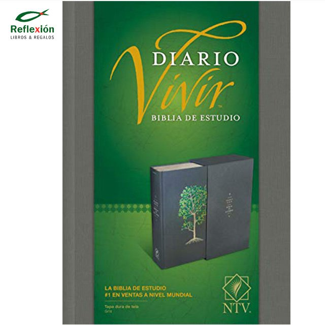 BIBLIA DIARIO VIVIR NTV TELA GRIS ARBOL