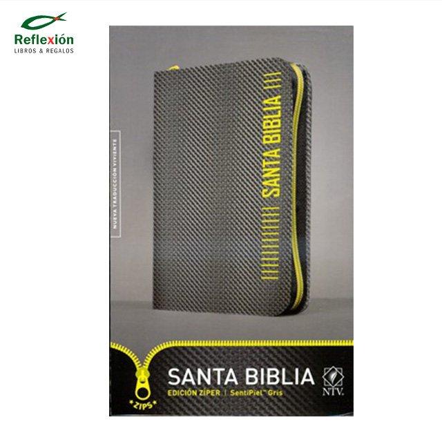 BIBLIA NTV CIERRE GRIS/ZIPS