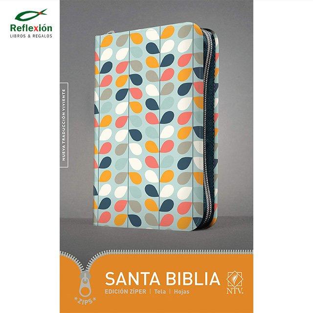 BIBLIA NTV CIERRE HOJAS/ZIPS