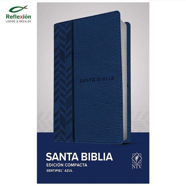 BIBLIA NTV COMPACTA SENTIPIEL AZUL