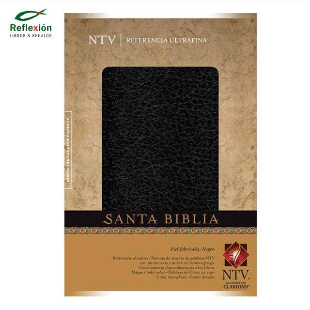 BIBLIA NTV REF PIEL/NEGRO