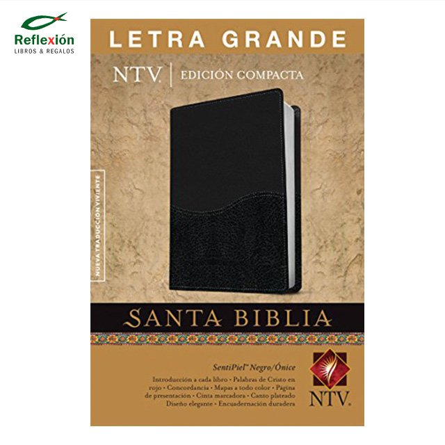 BIBLIA NTV T2 LETRA GRANDE NEGRO/SENTIPIEL