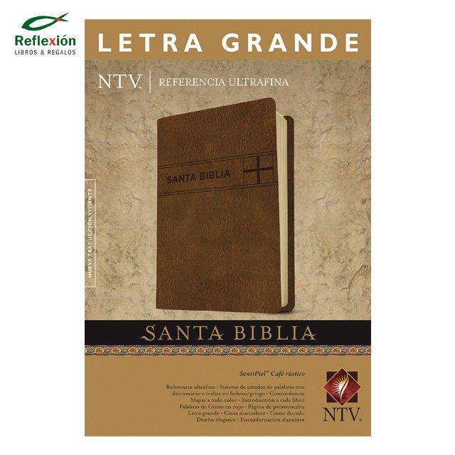 BIBLIA EDICION REFERENCIA ULTRAFINA NTV PIEL CAFE