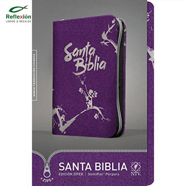 BIBLIA NTV CIERRE PURPURA ZIPPER
