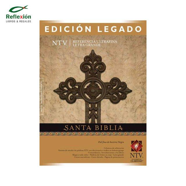 BIBLIA LEGADO TAPA PIEL BECERRO Y CAFÉ